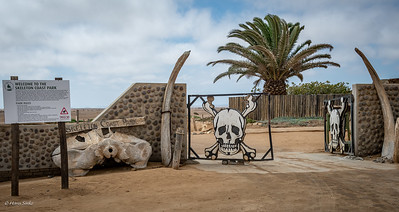 Famous entrance gate (Ugab) of Skeleton Coast National Park