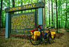 Touring bike at Sunken Trace sign on Natchez Trace Parkway - 8 - 72 ppi-2