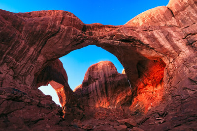 Double Arch at twilight