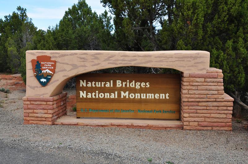 Natural Bridges National Monument entrance