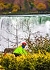 Touring cyclist viewing American side of Niagara Falls, NY-0400 - 72 ppi