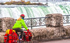 Touring cyclist viewing American side of Niagara Falls, NY-0580 - 72 ppi-2