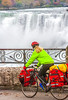 Touring cyclist viewing American side of Niagara Falls, NY-0619 - 72 ppi-2
