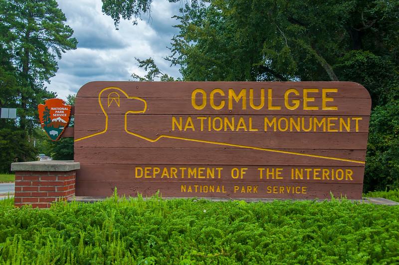 Ocmulgee National Monument entrance