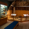 Inside the visitor's center.  There are a lot of items that have been uncovered during the excavations in and around the mounds.