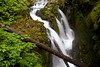 The Sol Duc River flows over Sol Duc Falls (also called Soleduck) in the Olympic National Park.