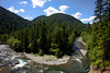 The North Fork of the Skokomish River bends through the hills of the Staircase region of the Olympic National Park.