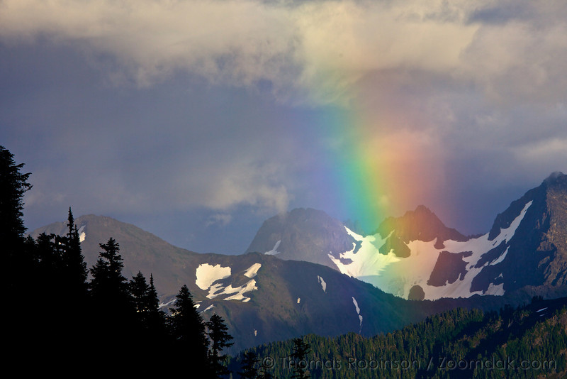 Rainbow and Mountains