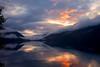 Sunset on Lake Crescent