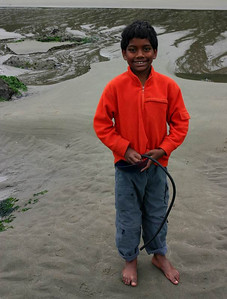 An indian kid on Shi Shi Beach
