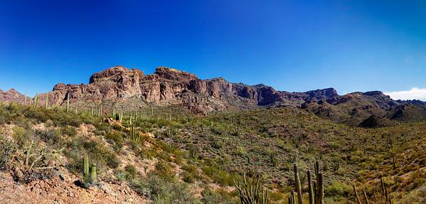 Rippled Desert Mountain Range