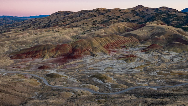 John Day Fossil Beds National Monument, Wheeler County Oregon  Sony ILCE-7RM3 FE 24-70mm F2.8 GM at 24 mm ¹⁄₂₅ sec at ƒ / 8.0 @ 200 ISO  9/21/19 7:00:34 PM ©savoyeimages.com
