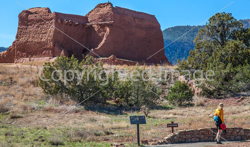 Cyclist at Pecos National Historical Park, NM - D1-3 - C3-0172 - 72 ppi-2