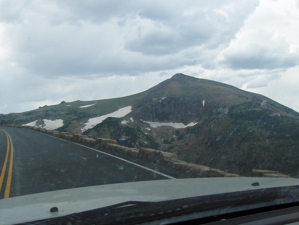 July 2008 - GMA's first trip to RMNP - views from Trail Ridge Drive - GMA sees her first glacier - we're almost at the top