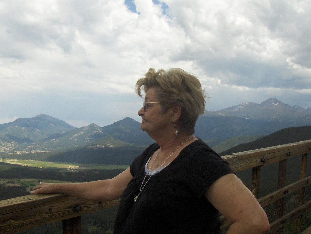 """July 2008 - GMA's first trip to RMNP - she said """"I've never seen anything so beautiful"""""""