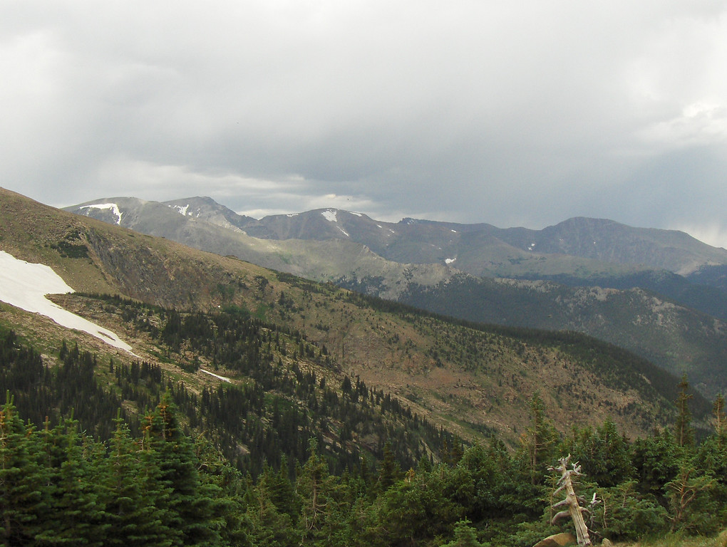 July 2008 - GMA's first trip to RMNP - views from Trail Ridge Drive - a glacier, a forest, mountains - there are no words