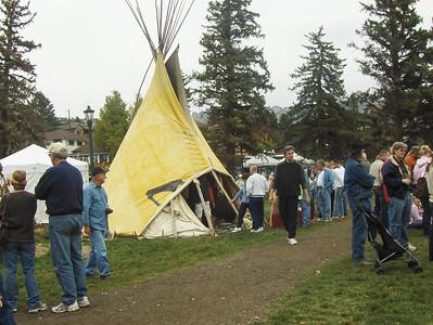 10-04-2008 - Estes Park; Elk Fest; Indian Teepee