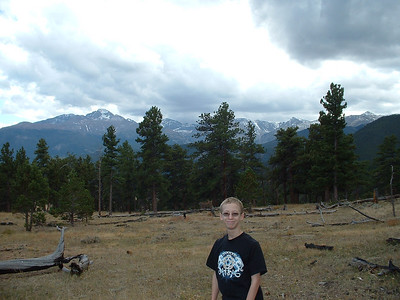 October 2007 - Tony in a meadow on the way to Bear Lake