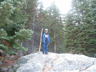 October 2007 - Tony finds his stick at Bear Lake