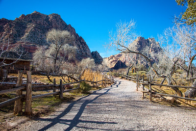Spring Mountain Ranch State Park in Red Rock Canyon National Conservation Area, Nevada, February 2016.