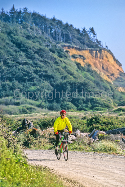 Cyclist at California's Redwood National Park - 4-2-4 - 72 ppi