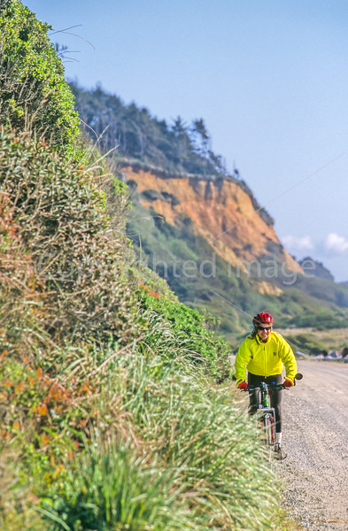 Cyclist at California's Redwood National Park - 10-2-10 - 72 ppi