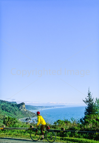 Cyclist at California's Redwood National Park - 17-2-15 - 72 ppi