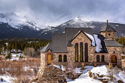 St. Malo's Chapel and Long's Peak