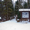 Trailhead from parking area at the Wild Basin