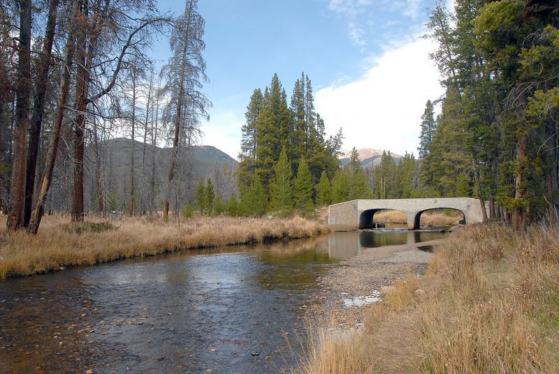 Stream on inside the park near Grand Lake