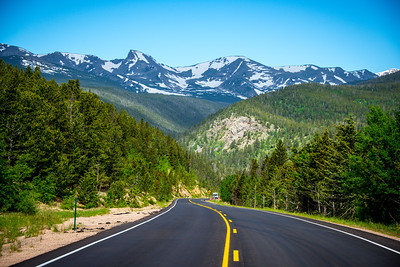 View from road in Rocky Mountain National Park, Colorado, June 2016.