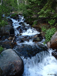 Waterfall in a Stream (Color ) (I)