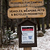 Warning Sign at the Wild Basin Trailhead