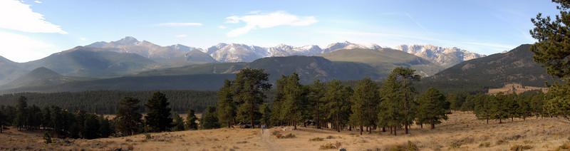 View of Long's Peak (peak on the left)