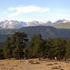 View of Long's Peak (peak on the left)