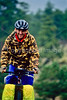 Cyclist on Bear Lake Road in Colorado's Rocky Mountain National Park - 8 - 72 ppi