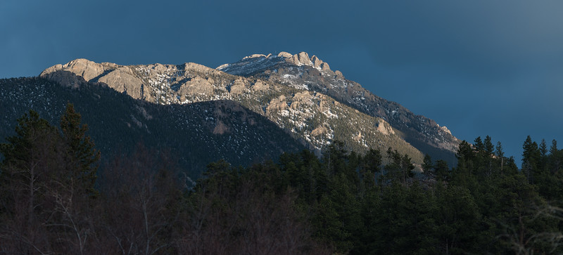 Evening Light on Mountain