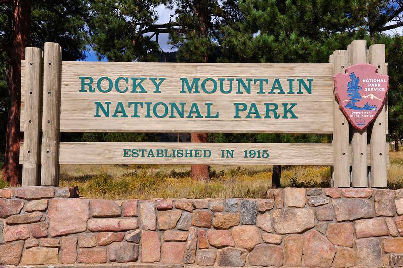 Rocky Mountain National Park entrance