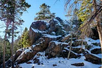 Hiking the Dream Lake trail in Rocky Mountain National Park, Colorado on November 7, 2015.