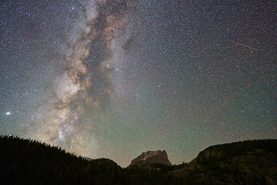 My Favorite Milky Way Lens, a Meteorite and Hallett Peak, Rocky Mountain National Park