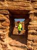 New Mexico - Cyclist at Quarai unit of Salinas Pueblo Missions National Monument - D5-C2 -0207 - 72 ppi-4
