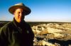 N nm salinas 17 - ORps - Ranger John Kuehnert at Abo Ruins at Salinas Pueblo Missions Nat'l Monument in New Mexico - 72 dpi