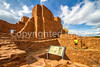 New Mexico - Cyclist at Quarai unit of Salinas Pueblo Missions National Monument - D5-C2 -0256 - 72 ppi