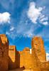 New Mexico - Cyclist at Quarai unit of Salinas Pueblo Missions National Monument - D5-C2 -0190 - 72 ppi