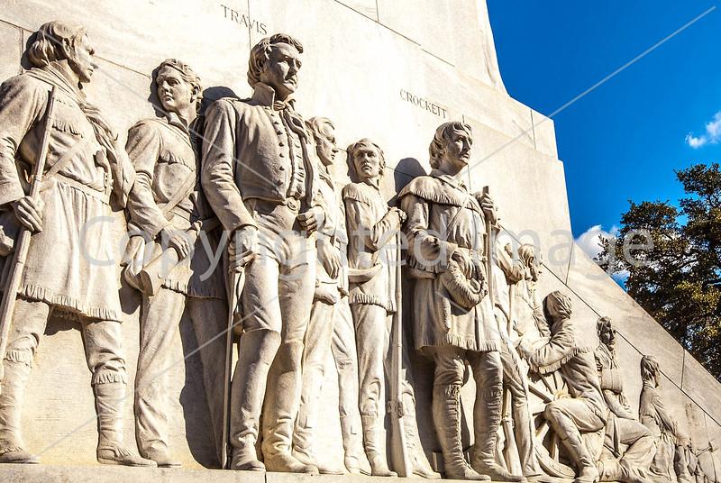 Statues of Alamo defenders in downtown San Antonio, Texas - C2-0051 - 72 ppi