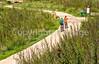 Texas - Cyclists on San Antonio River Bike Trail System, near Mission Concepcion - C3-0213 - 72 ppi