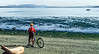 Cyclist at San Juan Island Nat  Historical Park, near Seattle - 7-2 - 2 - 72 ppi