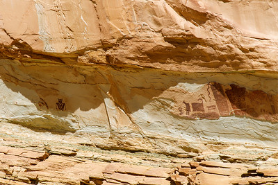 Pictographs On the Cliffside