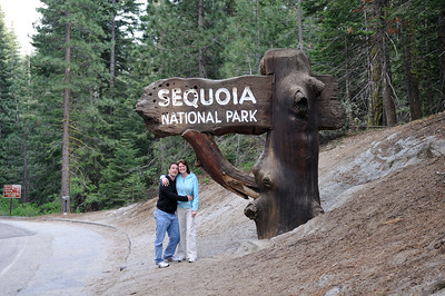 Sequoia National Park entrance