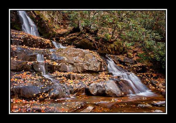 NJG3493:  Another view of Laurel Falls.  the water flow is low at this time of year but still makes for a beautiful picture.  I have been here in the spring when the water was rushing like a tidal wave.